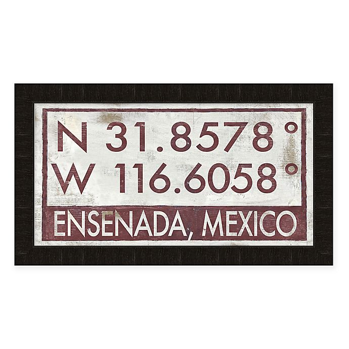 Alternate image 1 for Ensenada, Mexico Coordinates Framed Wall Art