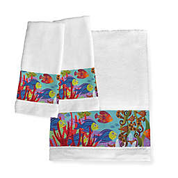 Laural Home® Fish in the Hood Hand Towels (Set of 2)