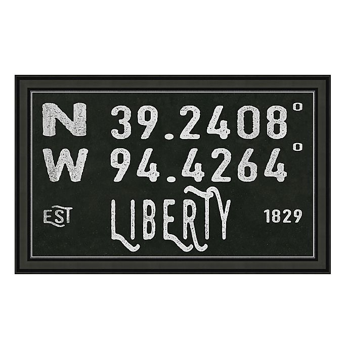 Alternate image 1 for Liberty Missouri Coordinates Framed Wall Art