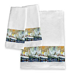 Laural Home® Glacier Bay Hand Towel Set of Two