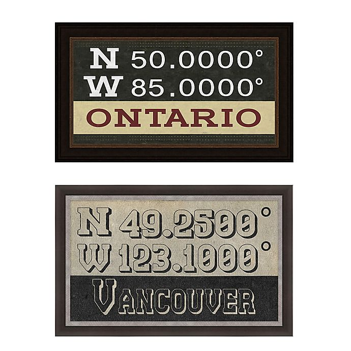 Alternate image 1 for Canada Coordinates Framed Giclee Print Wall Art