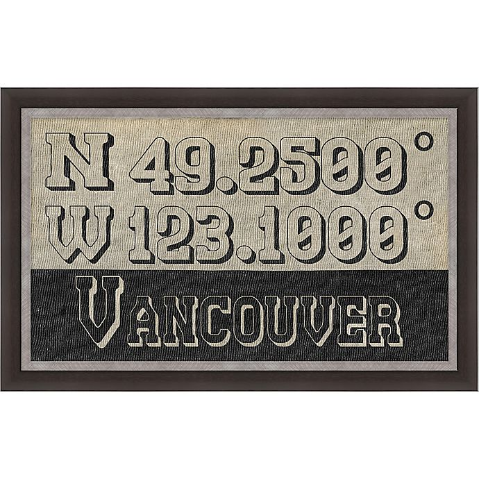 Alternate image 1 for Vancouver, Canada Coordinates Framed Giclee Print Wall Art