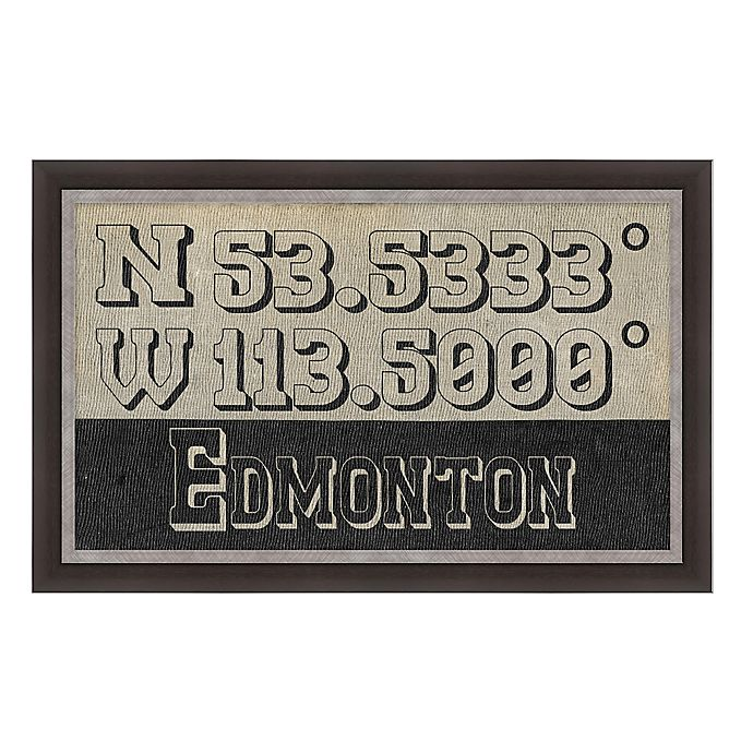 Alternate image 1 for Edmonton, Canada Coordinates Framed Giclee Print Wall Art