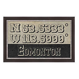 Edmonton, Canada Coordinates Framed Giclee Print Wall Art