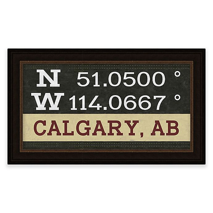 Alternate image 1 for Calgary, Canada Coordinates Framed Giclee Print Wall Art