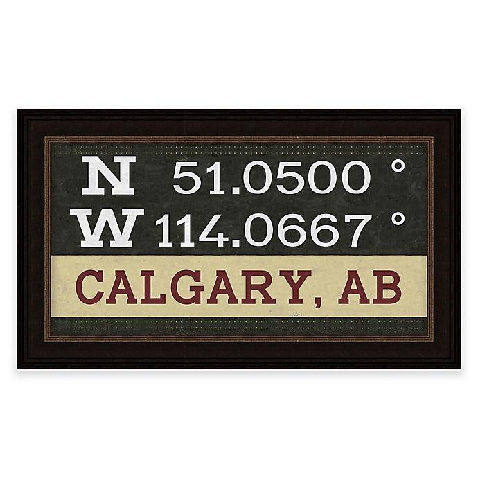 Alternate image 1 for Calgary, Canada Coordinates Framed Giclee Print Wall Art