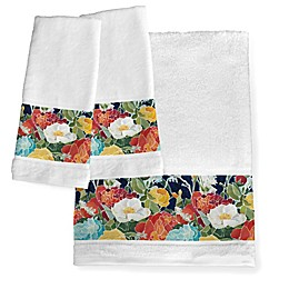 Laural Home® Midnight Floral Bath Towel