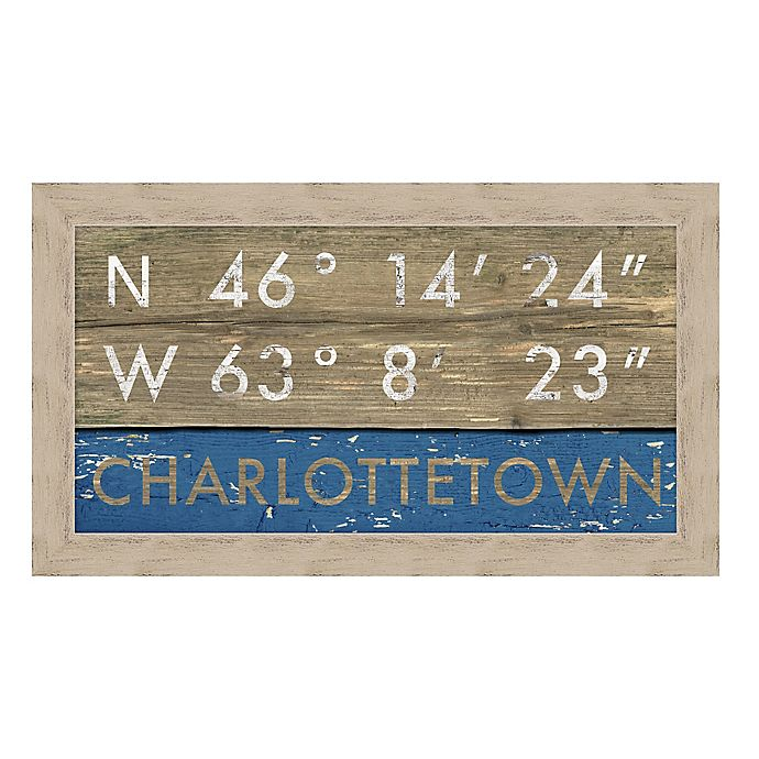 Alternate image 1 for Charlottetown, Canada Coordinates Framed Giclee Print Wall Art