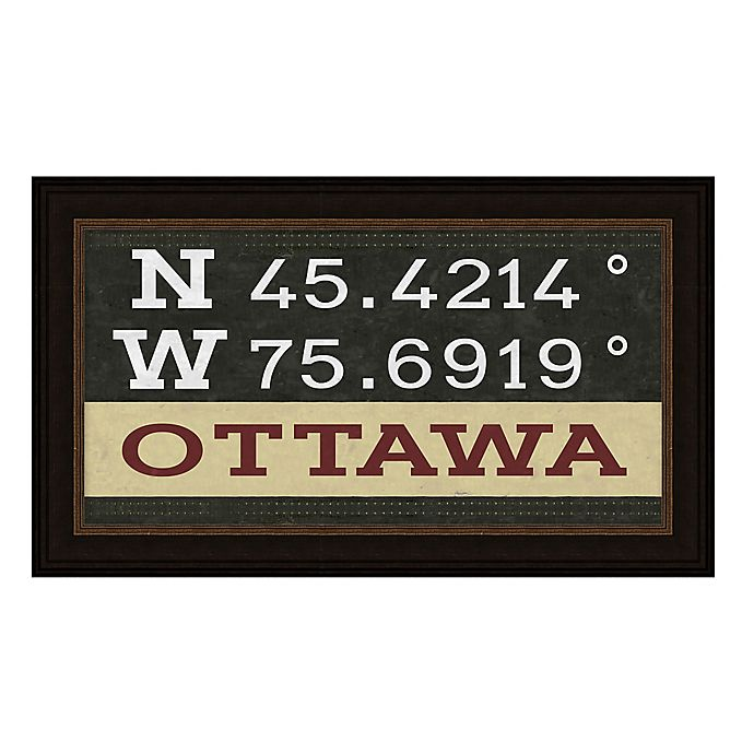 Alternate image 1 for Ottawa, Canada Coordinates Framed Giclee Print Wall Art
