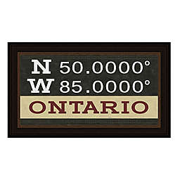 Ontario, Canada Coordinates Framed Giclee Print Wall Art