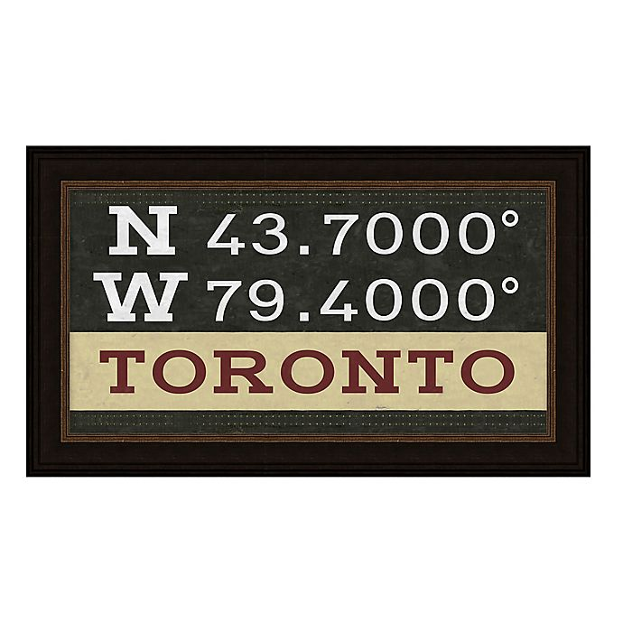 Alternate image 1 for Toronto, Canada Coordinates Framed Giclee Print Wall Art