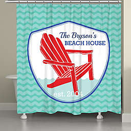 Laural Homereg Adirondack Beach Badge Shower Curtain