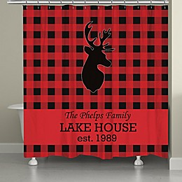 Laural Home® Buffalo Check 72-Inch x 71-Inch Shower Curtain