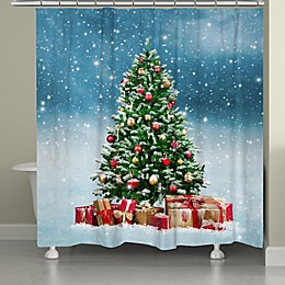 Laural Home Snowy Tree Shower Curtain