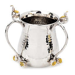 Classic Touch Kiddush Pomegranate Wash Cup in Silver/Gold