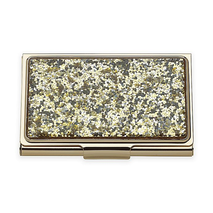 d9b11cf25e3 kate spade new york Simply Sparkling™ Glitter Card Holder in Gold ...