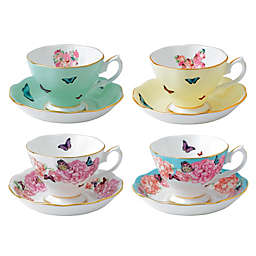 Miranda Kerr for Royal Albert Teacups with Saucers (Set of 4)