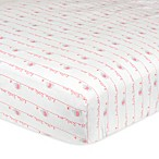Gerber®  Hello Little One  Fitted Crib Sheet in Pink/Grey