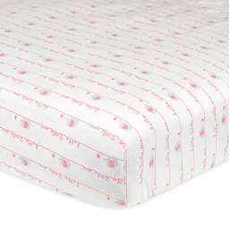"Gerber® ""Hello Little One"" Fitted Crib Sheet in Pink/Grey"