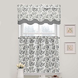Waverly Charmed Life Tier Pair and Scalloped Valance