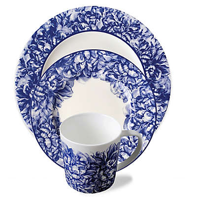 Caskata Peony Dinnerware Collection in Blue