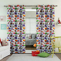 Decorinnovation Trucks Room-Darkening Grommet Top Window Curtain Panel Pair
