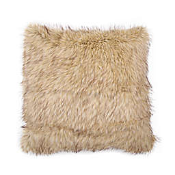 Cozy Lion Faux Fur European Pillow Sham in Gold