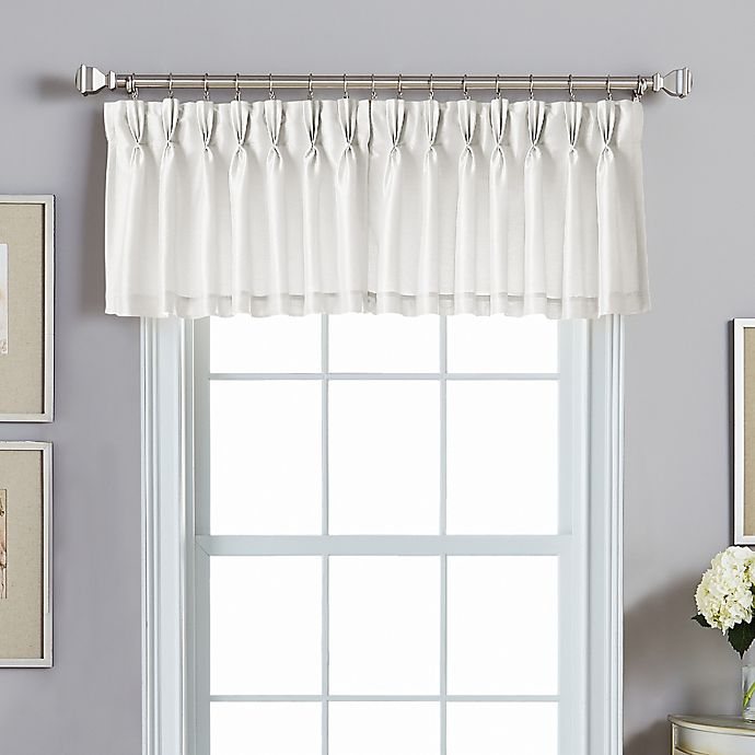 Alternate image 1 for Spellbound Pinch-Pleat Back Tab Valance in White