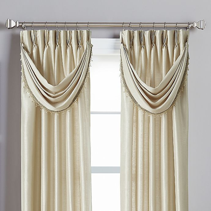 Alternate image 1 for Spellbound Pinch-Pleat Crescent Valance in Champagne