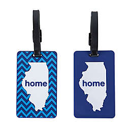Latitude 40°N® Illinois State Love Luggage Tags (Set of 2)