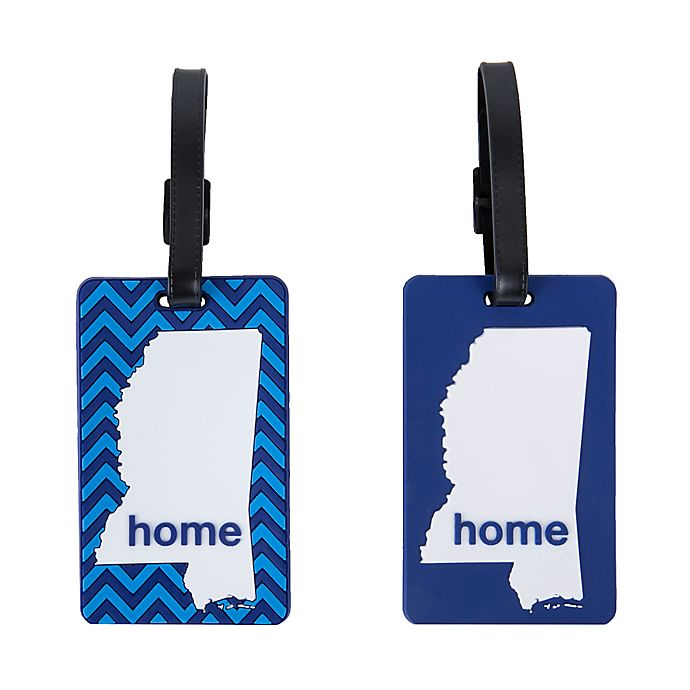 Alternate image 1 for Latitude 40°N® Mississippi State Love Luggage Tags (Set of 2)