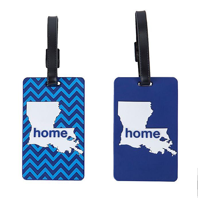 Alternate image 1 for Latitude 40°N® Louisiana State Love Luggage Tags (Set of 2)