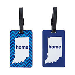 Latitude 40°N® Indiana State Love Luggage Tags (Set of 2)