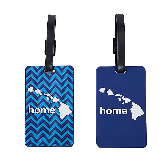 Alternate image 1 for Latitude 40°N® Hawaii State Love Luggage Tags (Set of 2)