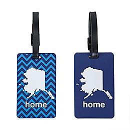Latitude 40°N® Alaska State Love Luggage Tags (Set of 2)