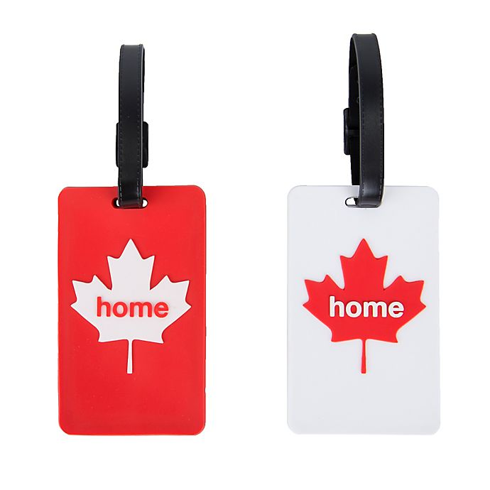 Alternate image 1 for Latitude 40°N™ Canada State Love Luggage Tags (Set of 2)