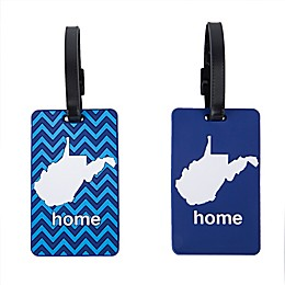 Latitude 40°N® West Virginia State Love Luggage Tags (Set of 2)