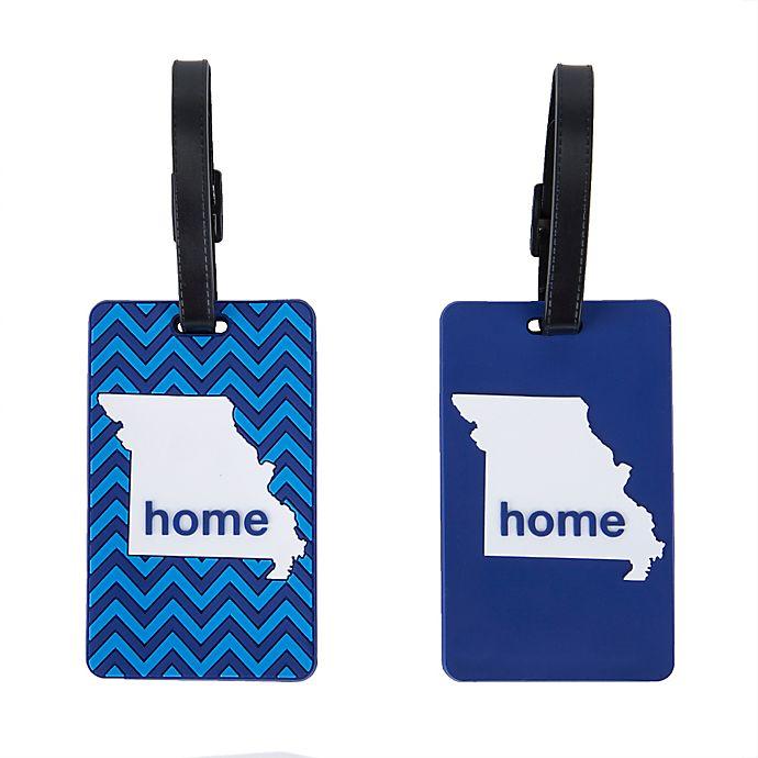 Alternate image 1 for Latitude 40°N® Missouri State Love Luggage Tags (Set of 2)