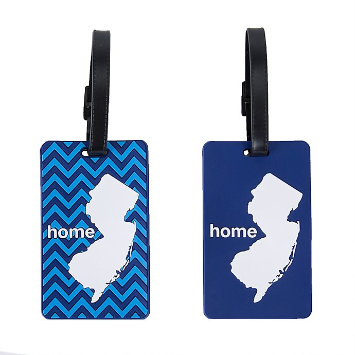 Alternate image 1 for Latitude 40°N® New Jersey State Love Luggage Tags (Set of 2)