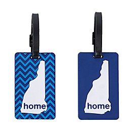 Latitude 40°N® New Hampshire State Love Luggage Tags (Set of 2)