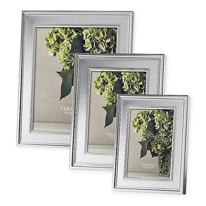 Alternate image 1 for Vera Wang Wedgwood® Grosgrain Metal Frame