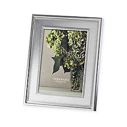 Vera Wang Wedgwood® Grosgrain 5-Inch x 7-Inch Metal Frame
