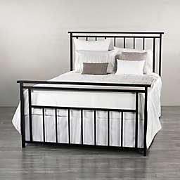 Aspen Iron Rail Bed Frame in Matte Black