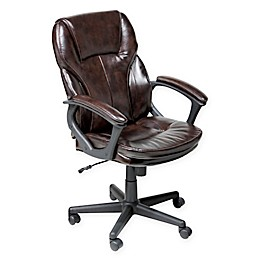 Serta® Managers Faux Leather Executive Office Chair in Chestnut