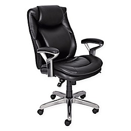Serta® Wellness Leather Executive Office Chair in Black