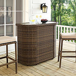 Crosley Bradenton All-Weather Wicker Bar