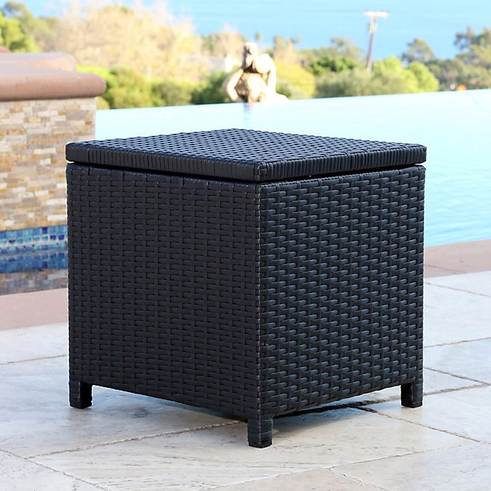 Abbyson Living® Carlsbad Outdoor Wicker Patio Storage ... on Outdoor Living Wicker id=31631