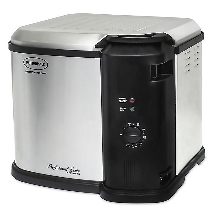 Alternate image 1 for Masterbuilt® Butterball® Indoor 14 lb. Analog Electric Fryer in Stainless Steel
