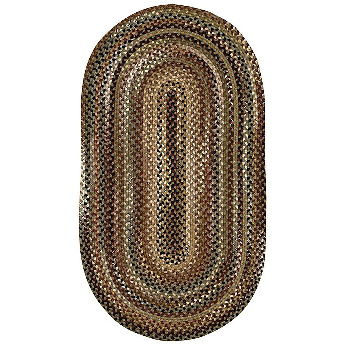 Alternate image 1 for Capel Rugs Bangor 2-Foot 3-Inch x 9-Foot Braided Oval Runner in Green