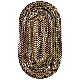 Capel Rugs Bangor 2-Foot 3-Inch x 9-Foot Braided Oval Runner in Green